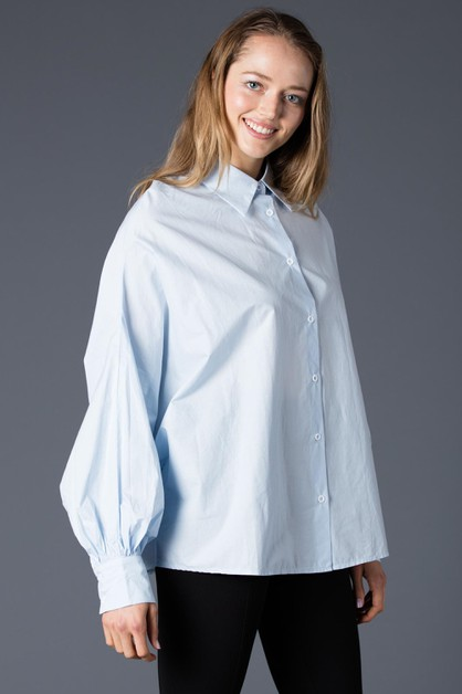 BASIC OVERSIZE SHIRTS WITH DOLMAN SL - orangeshine.com