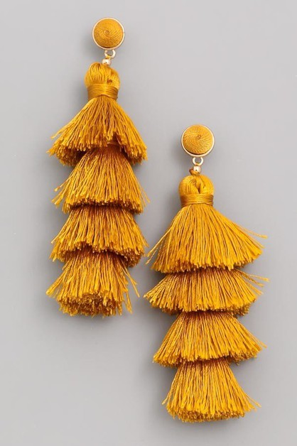 Layered Tassel Earrings - orangeshine.com