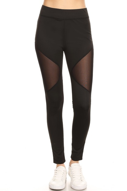 MESH PANEL ACTIVE YOGA LEGGINGS - orangeshine.com