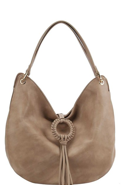 TRENDY FASHION TASSEL HOBO BAG  - orangeshine.com