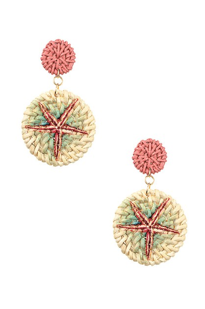 STARFISH ACCENT WOVEN EARRING - orangeshine.com
