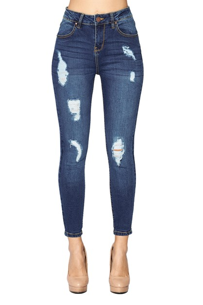Destroyed Ripped Jeans HIGH RISE - orangeshine.com