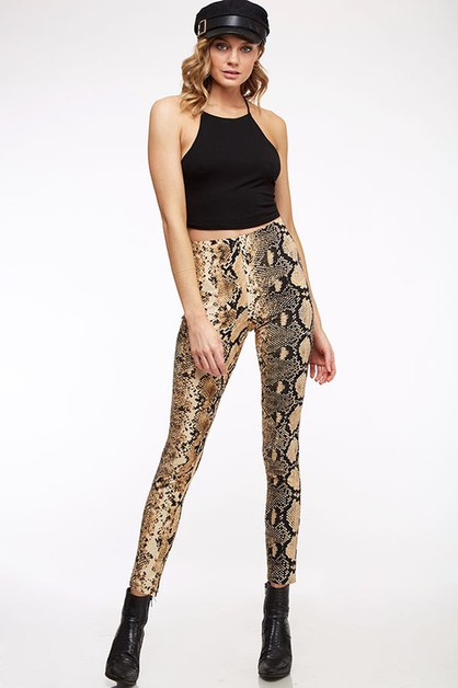 Animal Print Leggings Pant - orangeshine.com