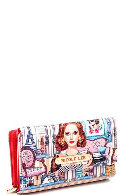 Nicole Lee PRINTED WALLET  - orangeshine.com