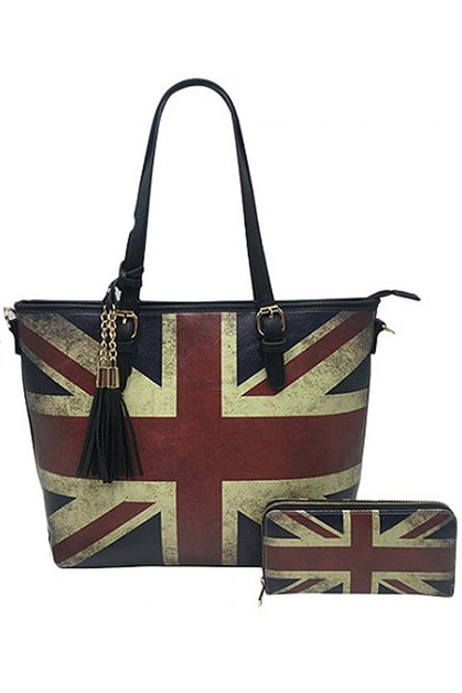 f693d13fca Retro Union Jack Tote Bag and Wallet - orangeshine.com