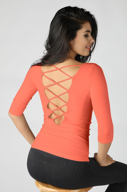 Back Lace Up Top - orangeshine.com