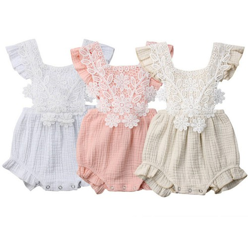 Lace Rompers with Tie backs - orangeshine.com