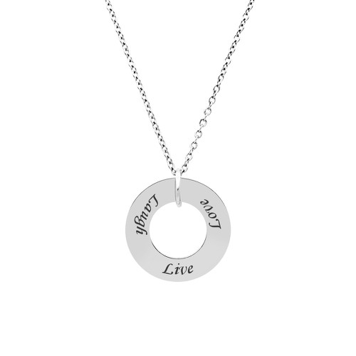 Live Love Laugh Washer Necklace - orangeshine.com