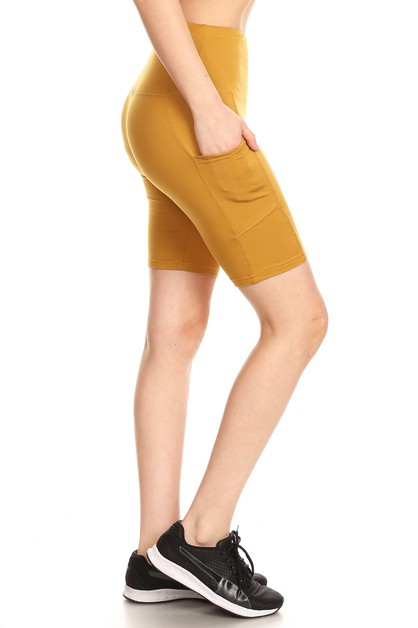 Tummy Control Pockets Biker Shorts - orangeshine.com