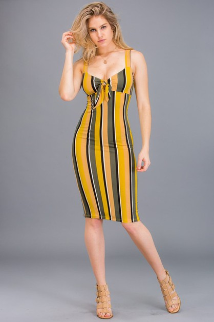 Stripe Bodycon Dress - orangeshine.com