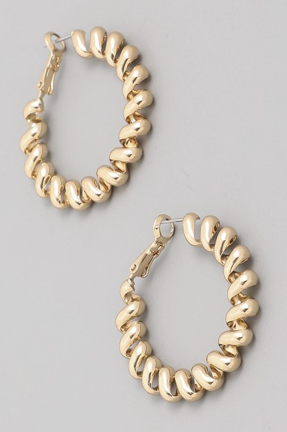 Spiral Cord Hoop Earrings - orangeshine.com