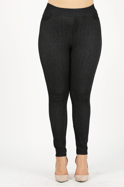 Pull-On Silhouette Stretchy Jeggings - orangeshine.com