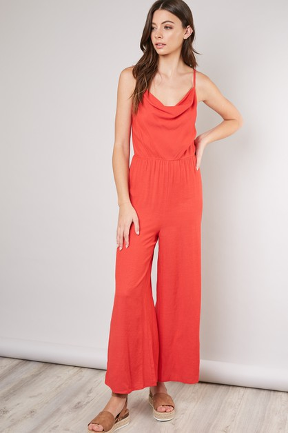 CAGED-BACK TRAPEZE MAXI JUMPSUIT - orangeshine.com