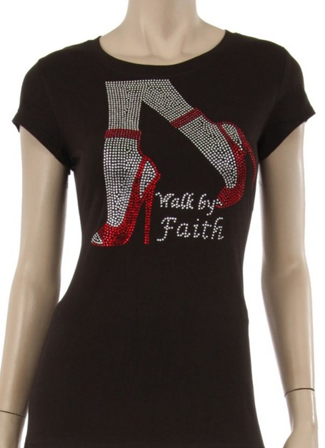 Walk by Faith w/ Red Shoes - orangeshine.com