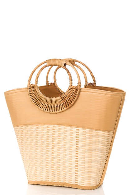 Basket Weave Tote Bag - orangeshine.com
