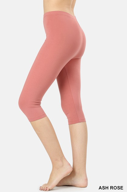 PREMIUM COTTON 15INCH CAPRI LEGGINGS - orangeshine.com