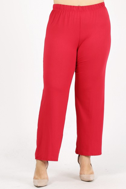 Plus size loose fit relaxed pants - orangeshine.com