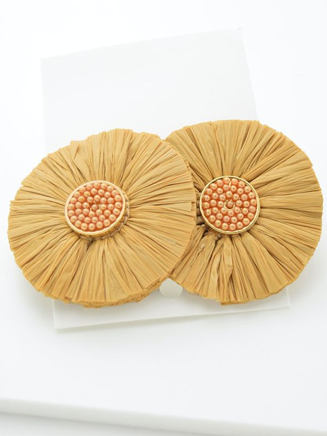 Raffia Rays Earrings - orangeshine.com