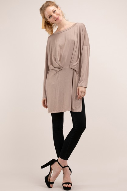 LONG SLEEVE SLOUCHY TUNIC - orangeshine.com