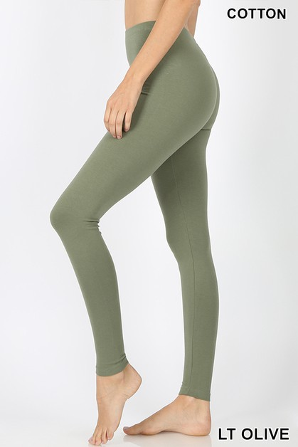PREMIUM COTTON FULL LENGTH LEGGINGS - orangeshine.com
