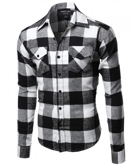 Buffalo Plaid Flannel Shirt - orangeshine.com