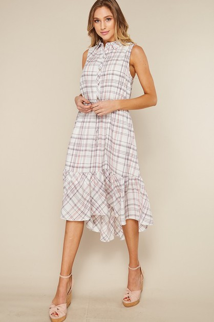 Button Up Shirt Dress - orangeshine.com