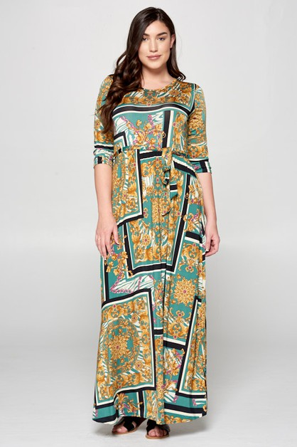 Empire Wist Maxi Dress - orangeshine.com