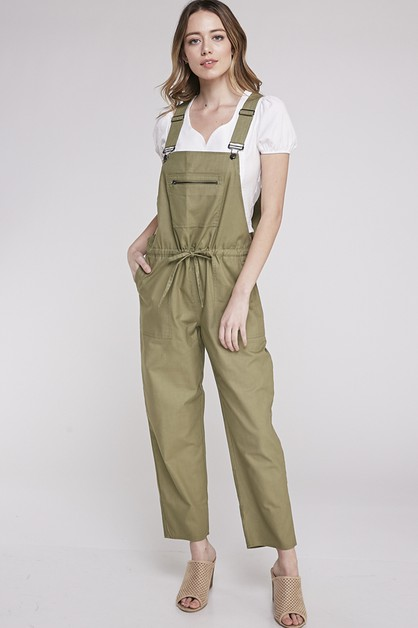 JUMPSUIT WITH ADJUSTABLE WAIST TIE - orangeshine.com