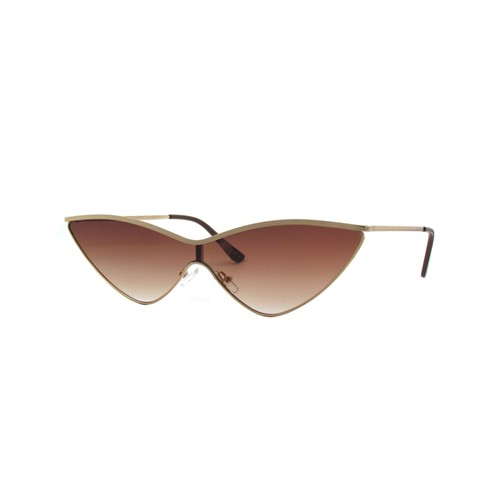 Cat Eye Flat Lens Metal Sunglasses - orangeshine.com