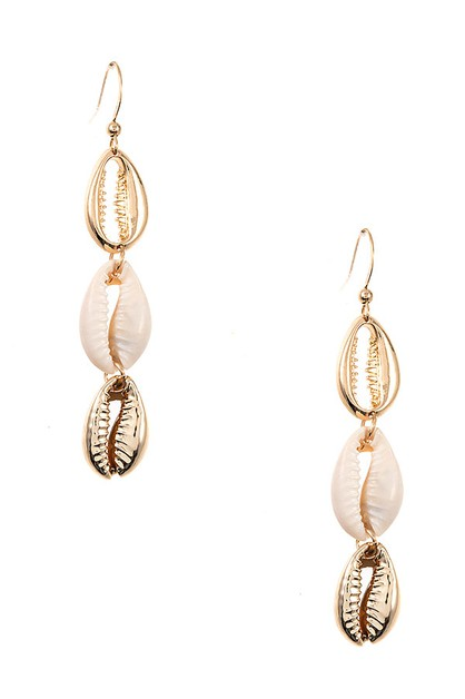 SHELL LINK EARRING  - orangeshine.com