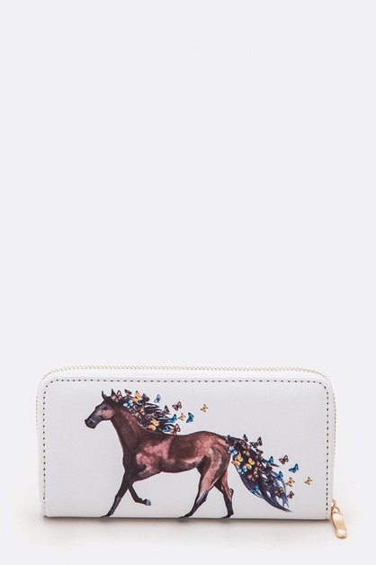 Horse Butterfly Print Fashion Wall - orangeshine.com