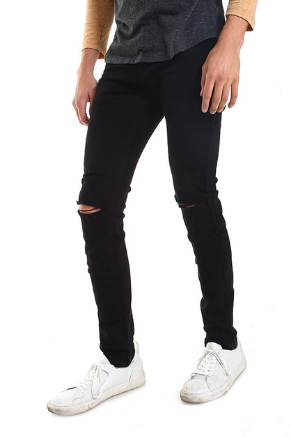 Hawks Bay Men Knee Rip Jeans - orangeshine.com