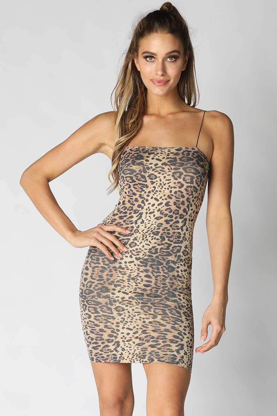 Leopard Tube Mini Dress - orangeshine.com