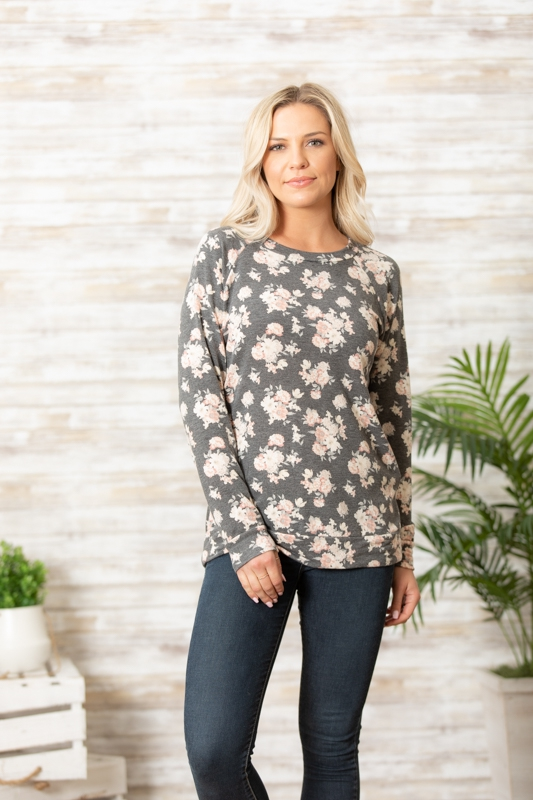 Long sleeve floral FL6 sweatshirt - orangeshine.com