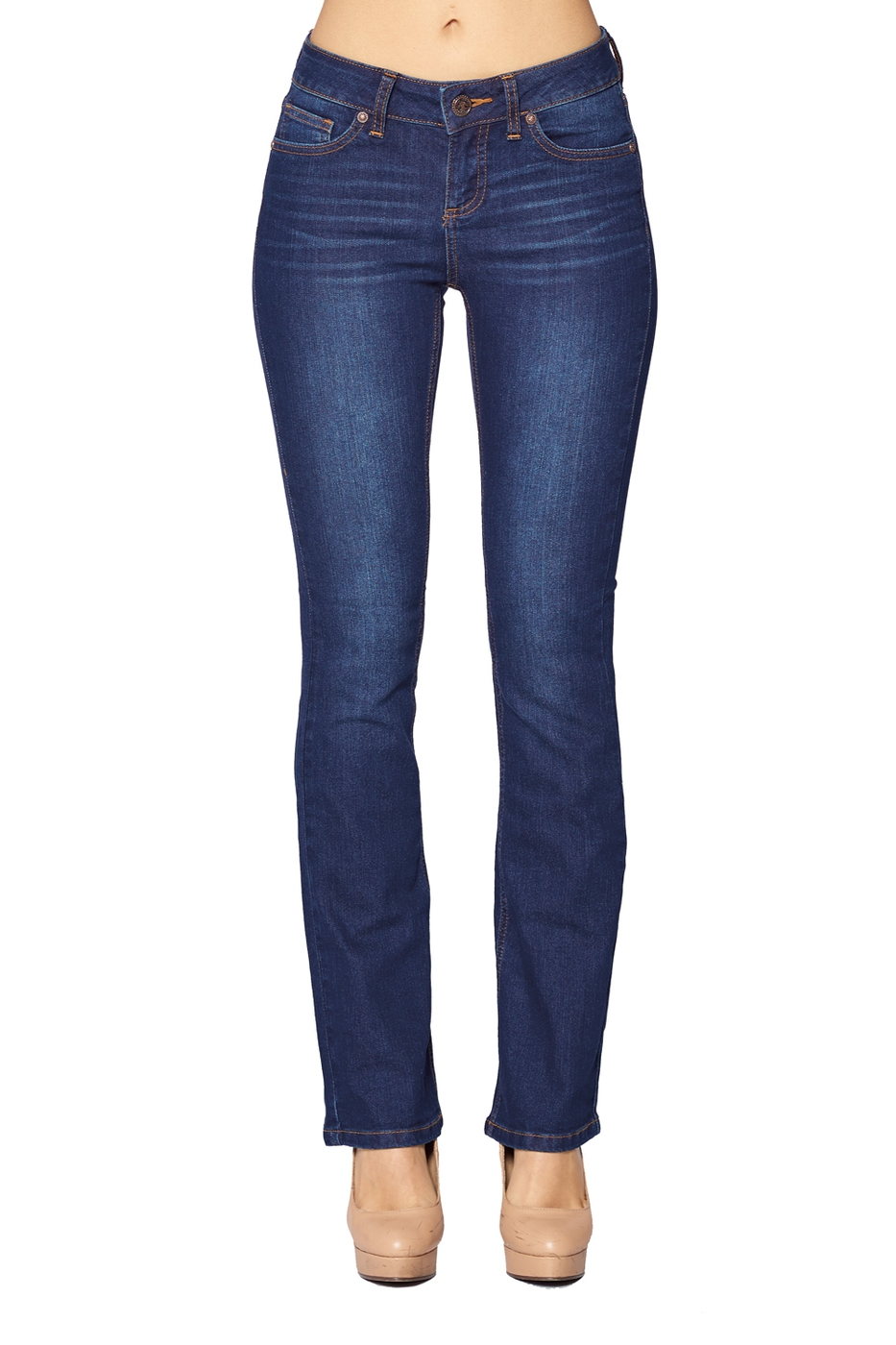 Women Semi Flared Jeans - Bootcut - orangeshine.com
