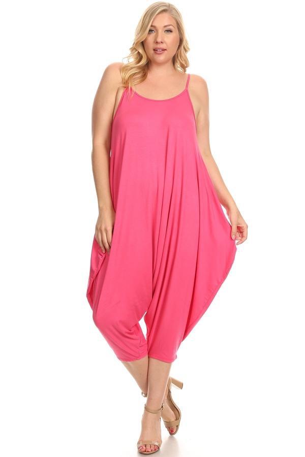 Plus Size Solid Harem Jumpsuits - orangeshine.com