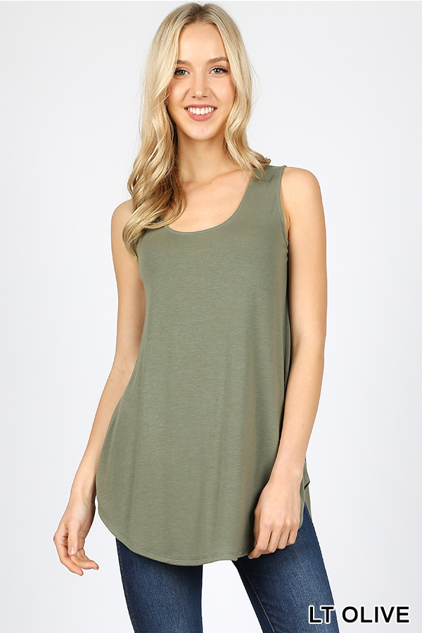 PREMIUM ROUND NECK HEM TOP - orangeshine.com