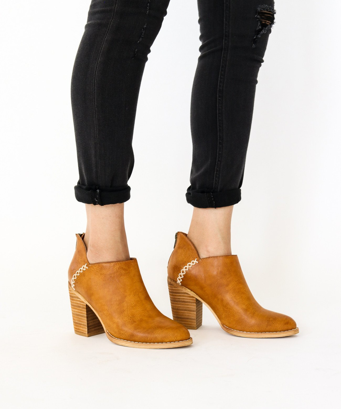 Western Low Ankle Boot - orangeshine.com