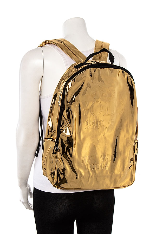 PATENT FAUX LEATHER BACKPACK - orangeshine.com