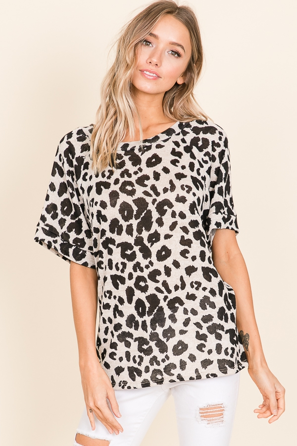 LOOSE FIT ANIMAL PRINT TUNIC - orangeshine.com