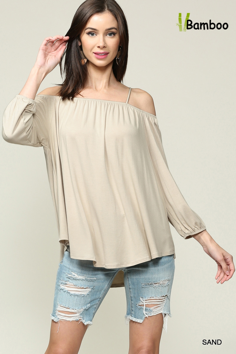 Off Shoulder Spaghetti Straps Top  - orangeshine.com