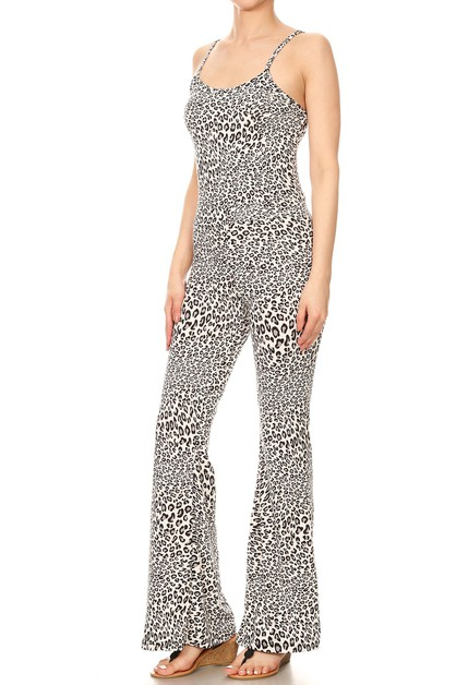 Animal Flare Jumpsuit Cami Top Soft - orangeshine.com
