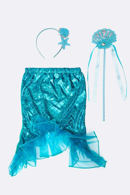 3 PC Kids Mermaid Dress Up Set - orangeshine.com