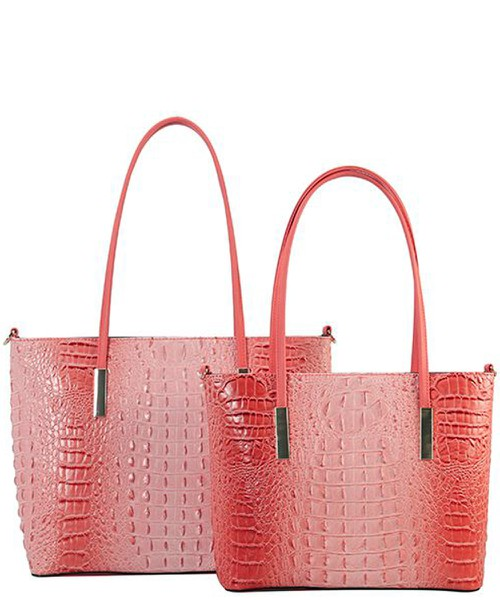 Designer 2 in 1 Croc Handbag Set  - orangeshine.com