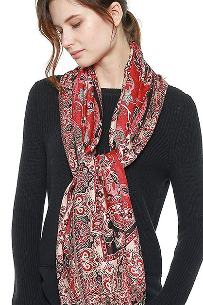 BIG PAISLEY COTTON PASHMINA SCARF  - orangeshine.com