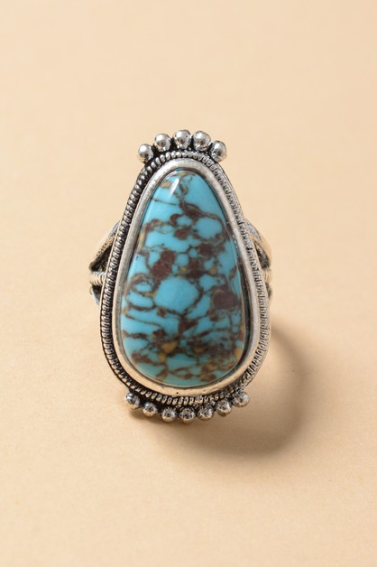 Raindrop Turquoise Ring - orangeshine.com