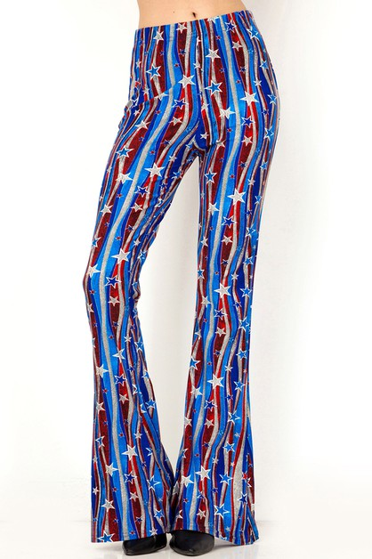 AMERICAN FLAG PRINT LEGGINGS - orangeshine.com