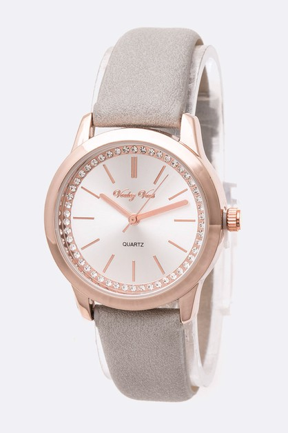 Crystal Dial Fashion Watch - orangeshine.com