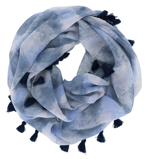 Blue Abstract Print Infinity Scarf  - orangeshine.com