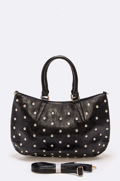 Crystal Studded Tote Bag - orangeshine.com